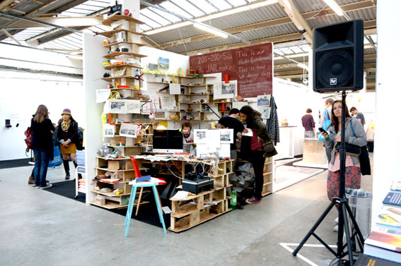 The Design office in the middle of the Tent exhibition during London Design week