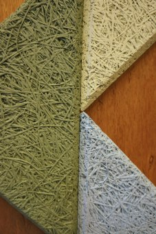 Wood, wool and cement