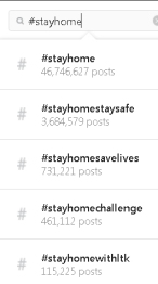Instagram stayhome trends 2020
