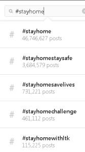 Instagram stayhome trends 2020