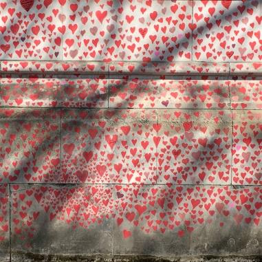 Covid memorial wall London